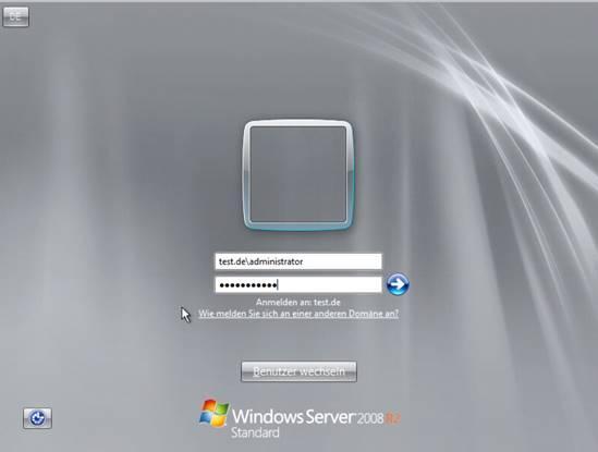 Login in den Fertig installierten Server