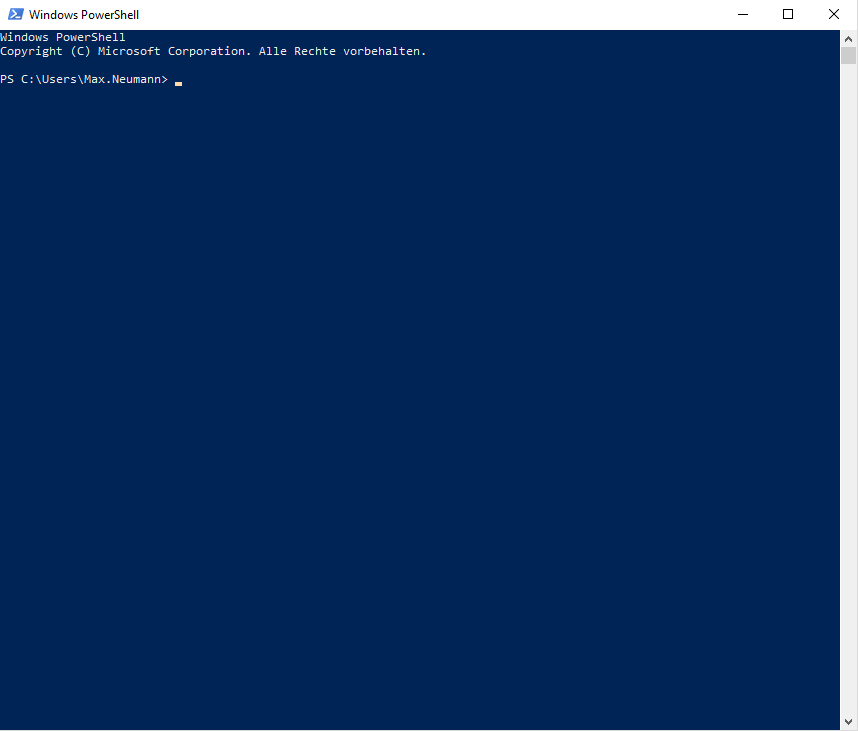 Windows PowerShell zum Einstellen der Hibernate Optionen