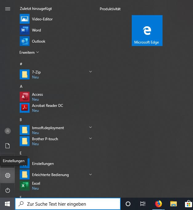 Schritt 1 zum Einrichte des Windows 10 IPsec L2TP VPN Client