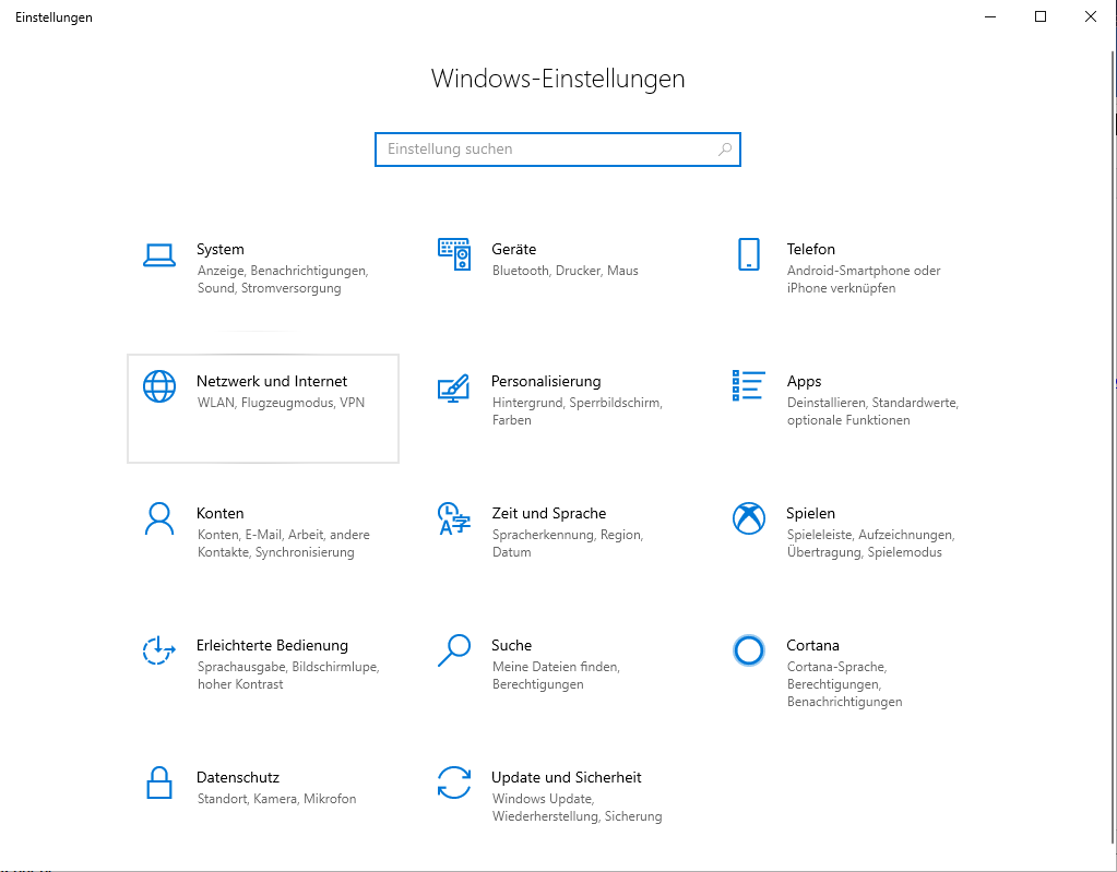 Schritt 2 zum Einrichte des Windows 10 IPsec L2TP VPN Client