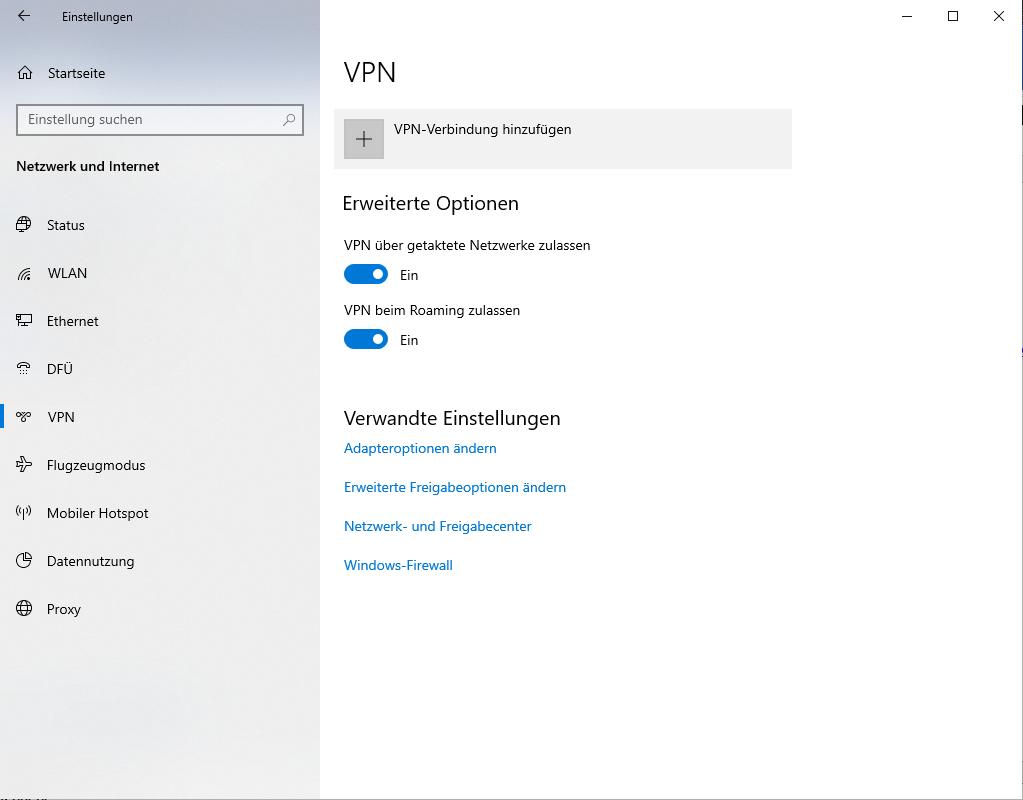 Schritt 3 zum Einrichte des Windows 10 IPsec L2TP VPN Client