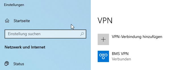 Windows 10 VPN-Verbindung herstellen